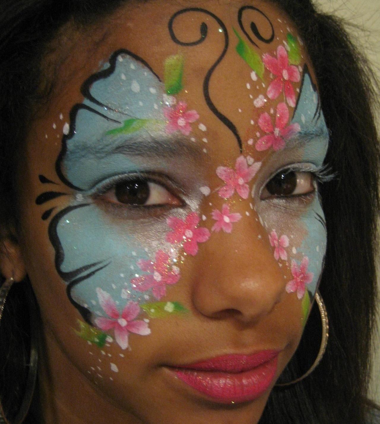 10 Lovely Face Paint Ideas For Girls face painting pictures fab faces face painting girly girls 2020