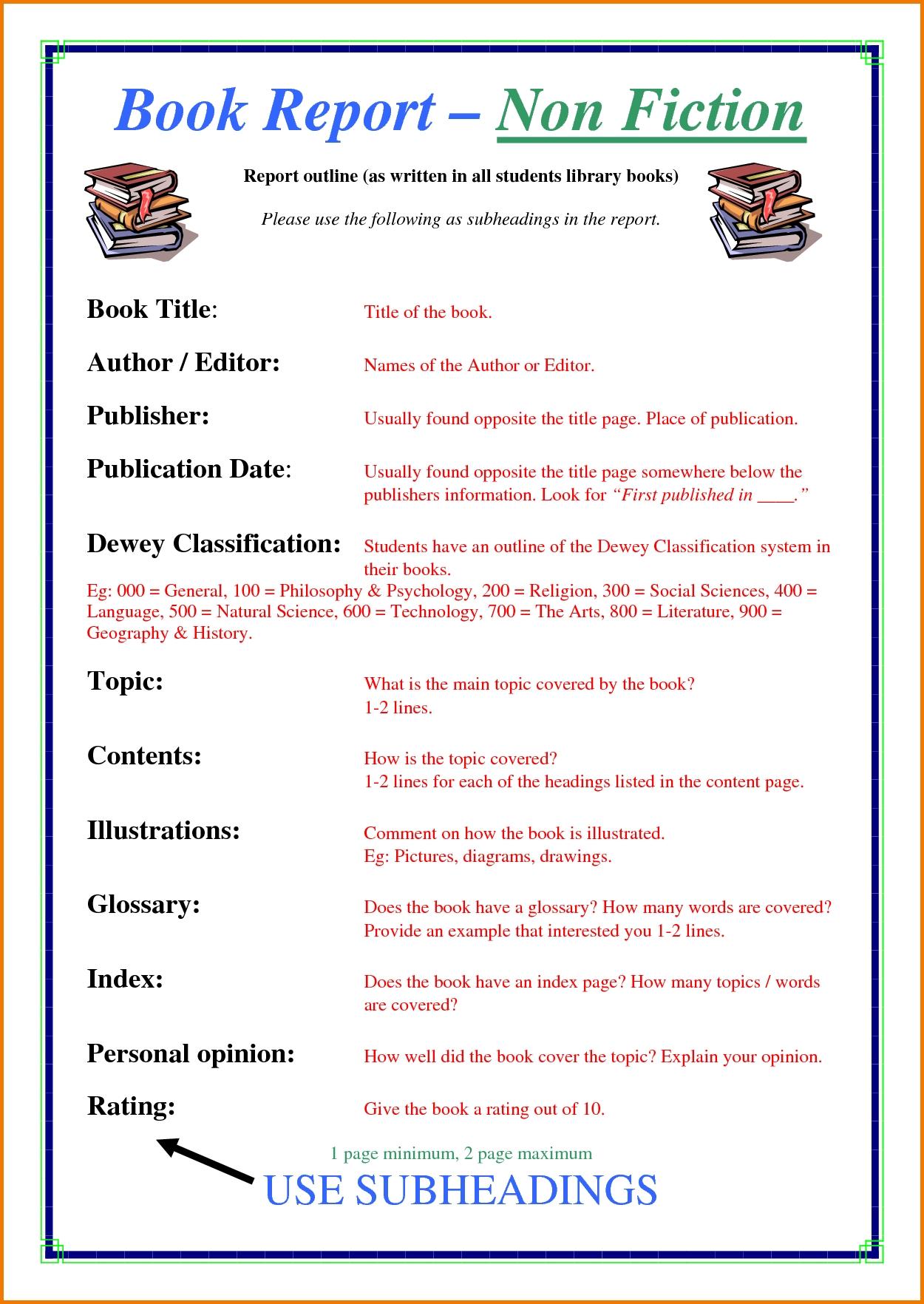10 Trendy Non Fiction Book Report Ideas fair 8th grade nonfiction book report about non fiction book report 2021
