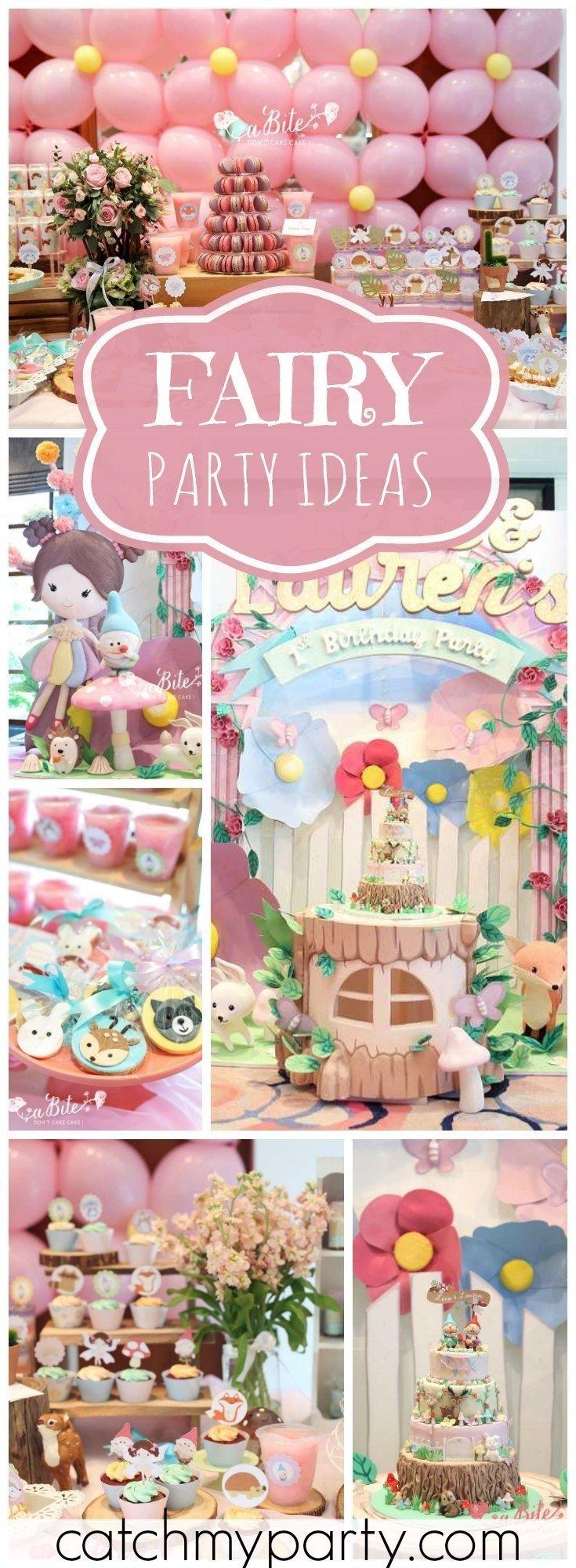 10 Fashionable 5Th Birthday Party Ideas For Girls fairy birthday leia laurens fairy garden girl birthday 2020