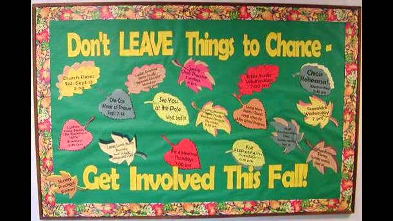 10 Unique Bulletin Board Ideas For Fall fall bulletin board idea decoratings for teachers youtube 1 2020
