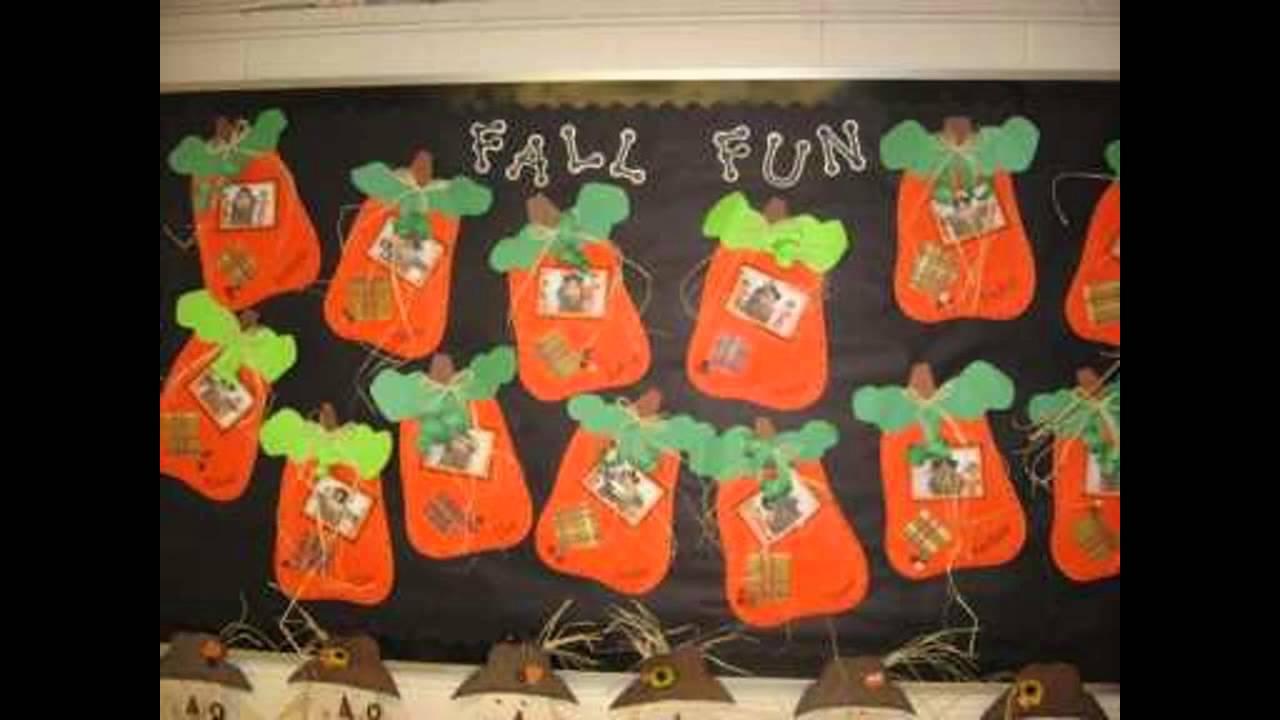 10 Lovable Fall Preschool Bulletin Board Ideas fall bulletin board ideas decorating preschool youtube 1