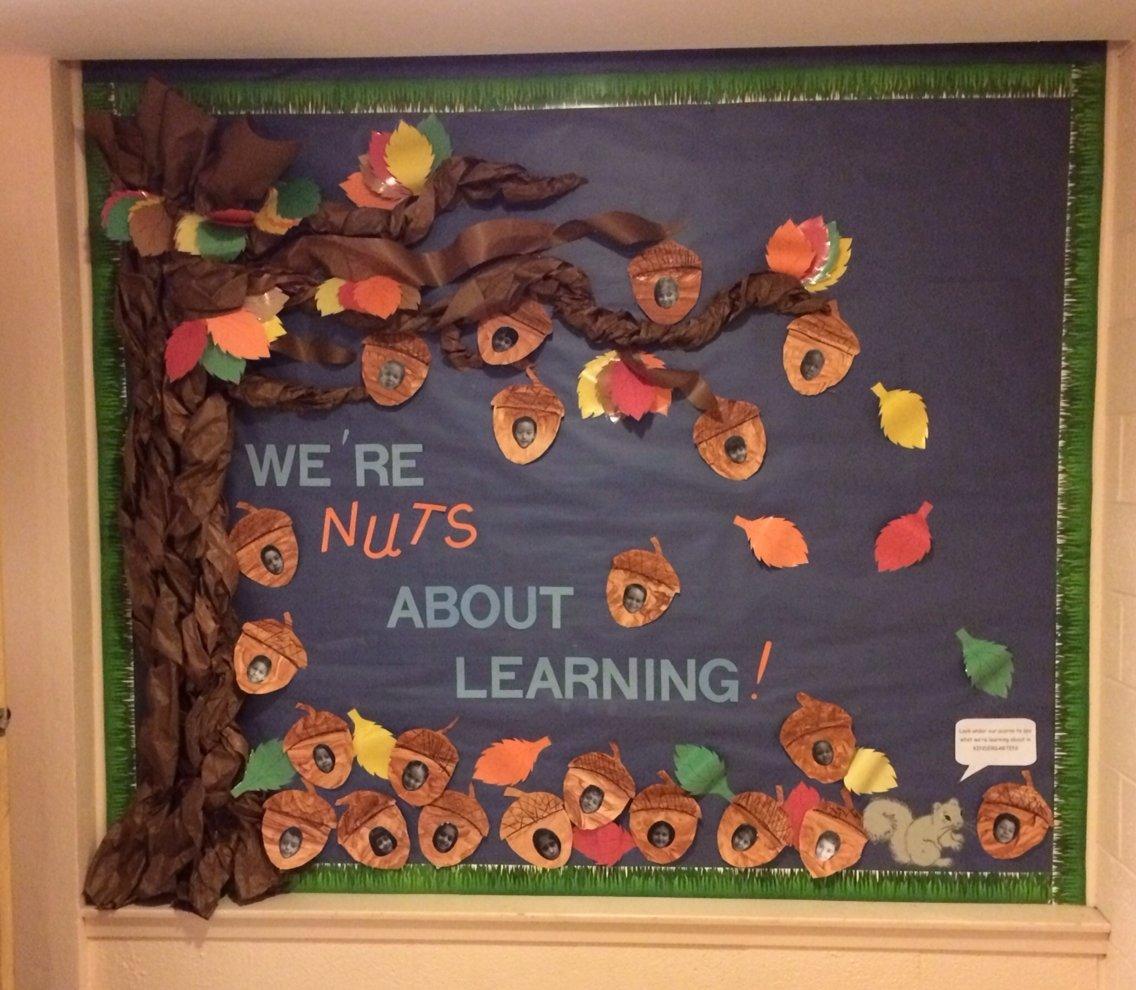 10 Lovely Fall Bulletin Board Ideas For Preschool fall bulletin board were nuts about learning bulletin boards 3