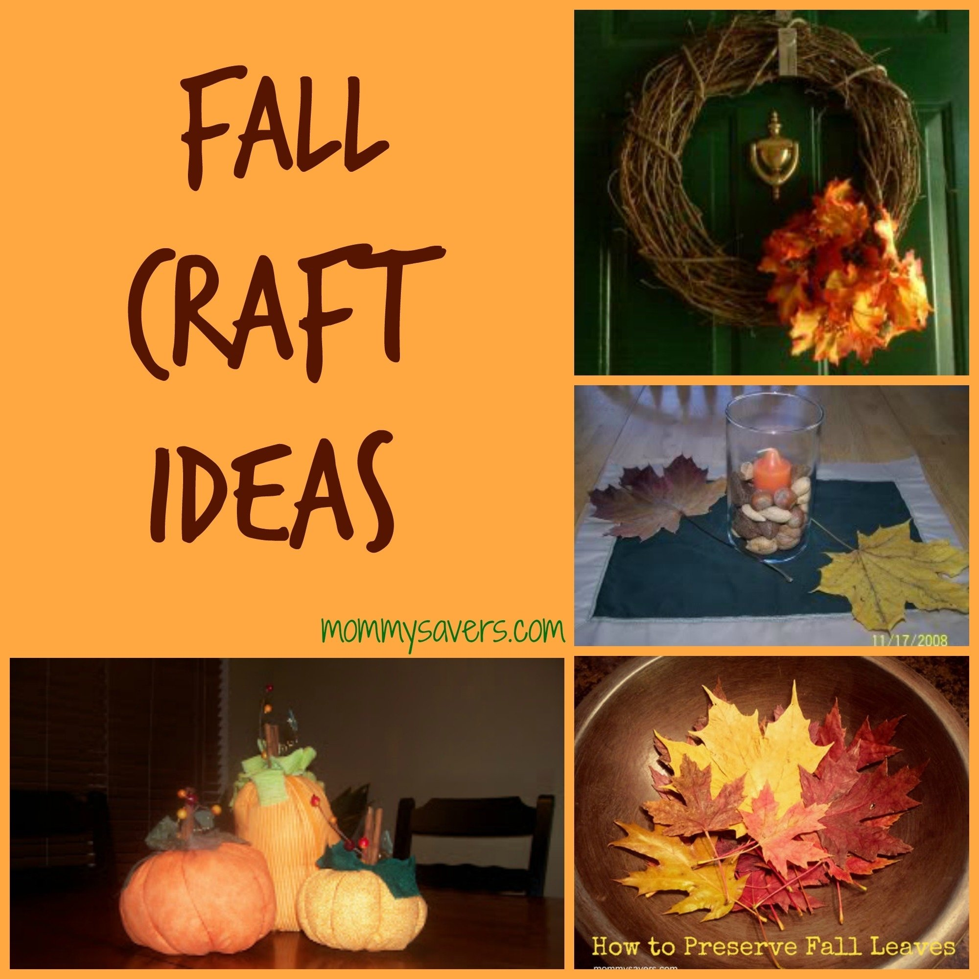 10 Ideal Fall Craft Ideas For The Home fall craft ideas 10 simple crafts mommysavers