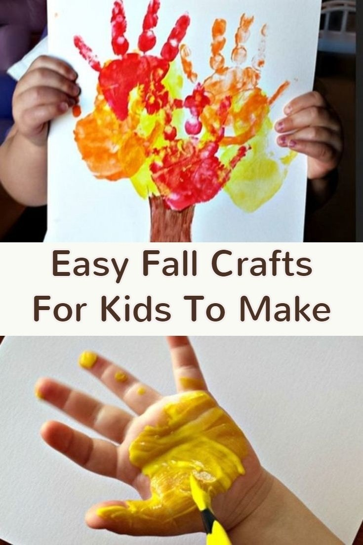 10 Ideal Fall Craft Ideas For The Home fall crafts for kids easy fall kid crafts for preschoolers 1