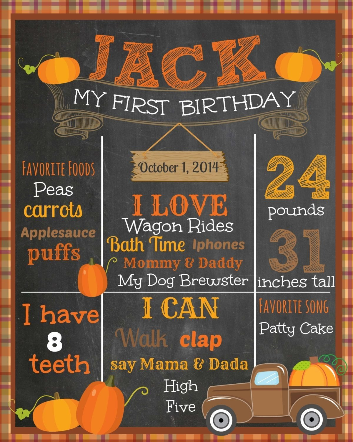 10 Stylish Fall First Birthday Party Ideas fall first birthday chalkboard pumpkin patchthemilkandcreamco 1 2020