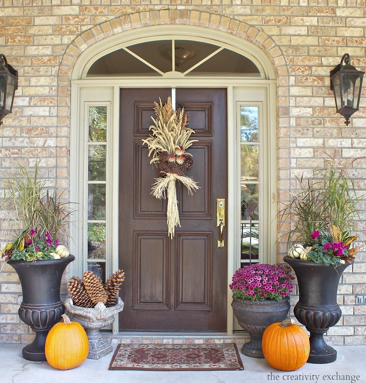 10 Lovely Front Door Fall Decorating Ideas fall front porch decorating ideas the creativity exchange front cute