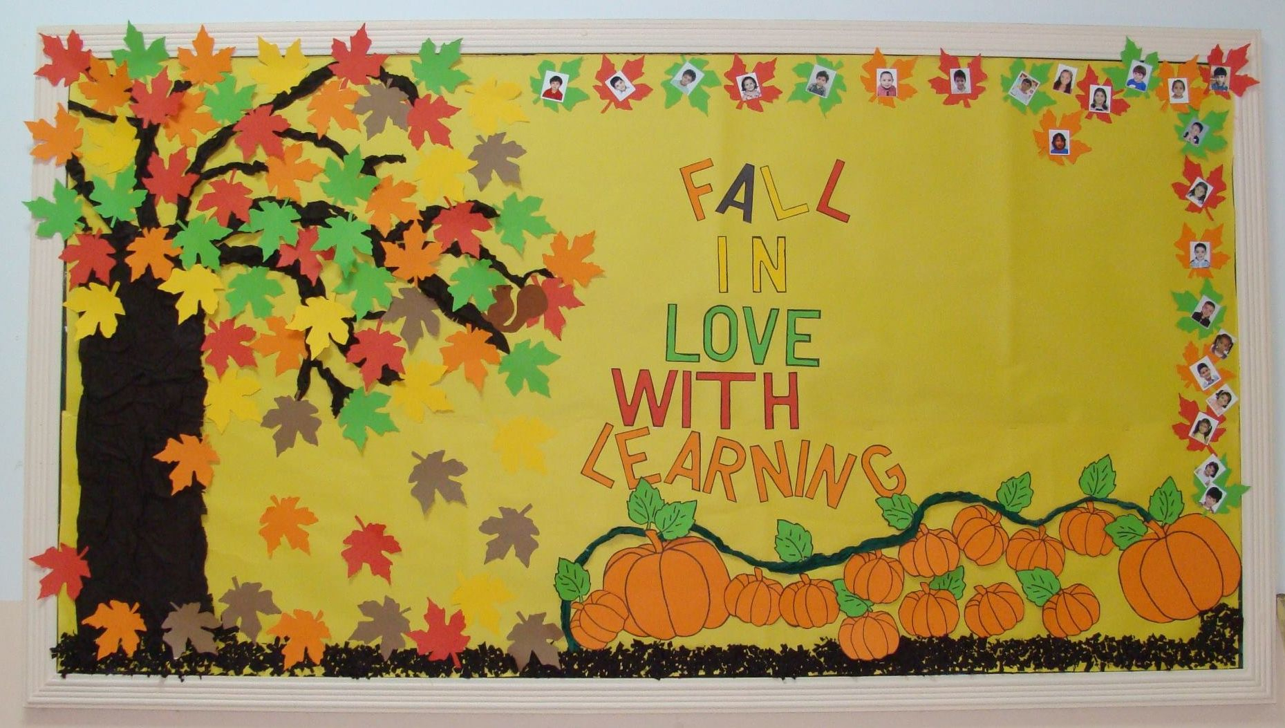 fall in love with learning! - fall bulletin board idea | fall