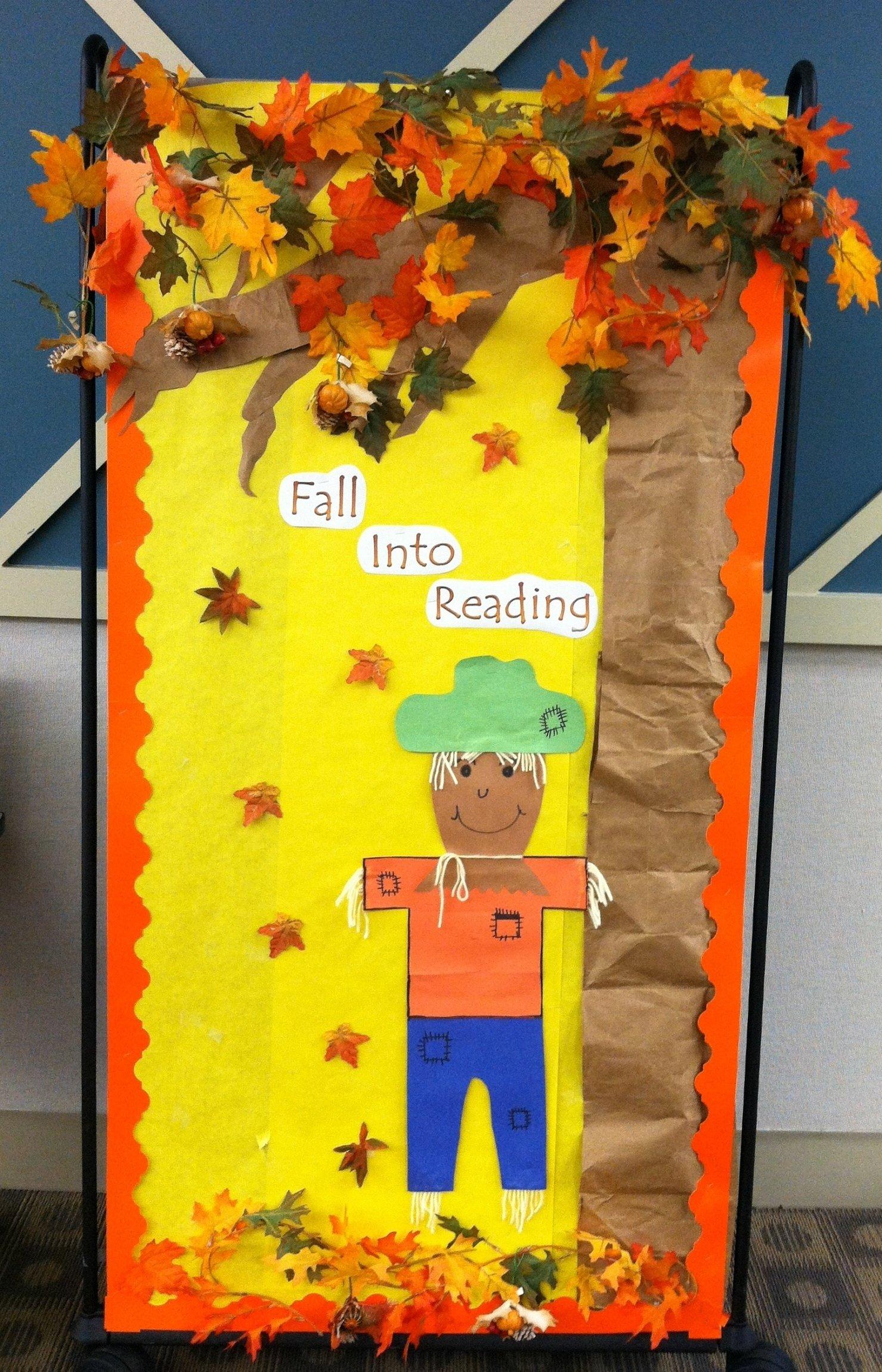 10 Elegant Fall Reading Bulletin Board Ideas fall into reading back to school bulletin board supplyme 2021