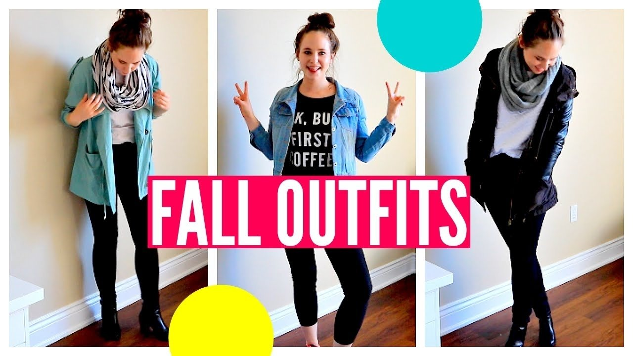 fall outfit ideas for school! autumn school lookbook 2015 - youtube