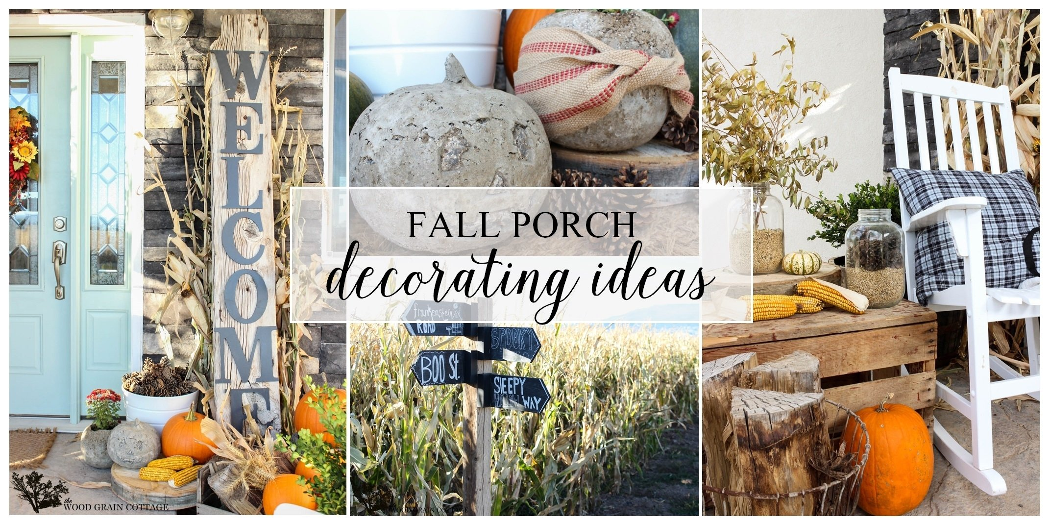 10 Lovely Front Porch Decorating Ideas For Fall fall porch decorating ideas the wood grain cottage 2