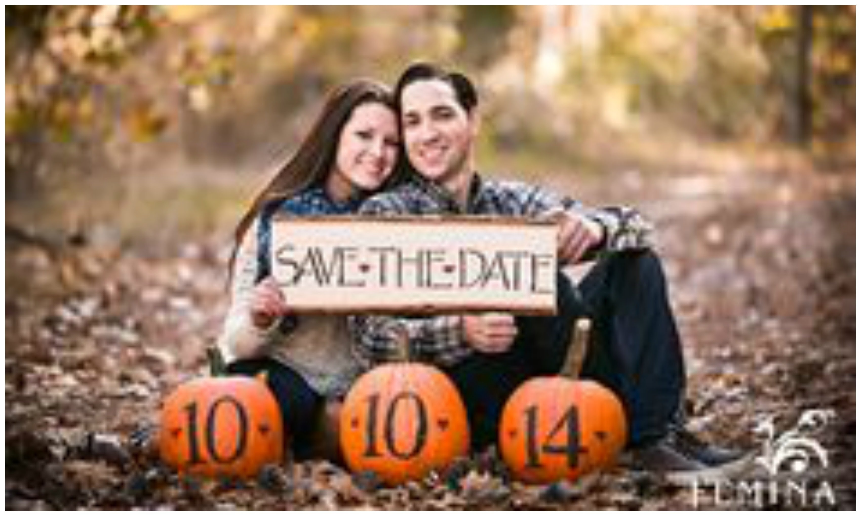 fall save the date ideas for your engagement shoot - youtube