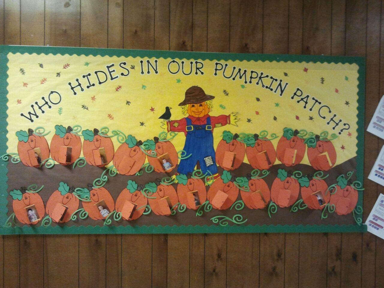 10 Great Pumpkin Patch Bulletin Board Ideas fall scarecrow pumpkin patch board school bulletin boards 2021