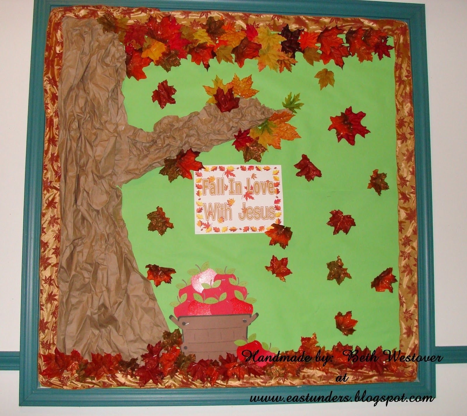 fall season bulletin board ideas | paper from office max fall ribbon