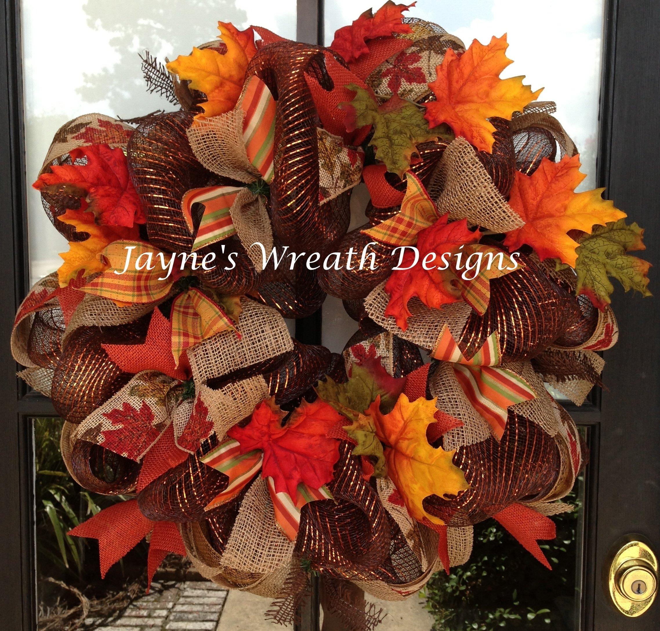 10 Fantastic Fall Wreath Ideas With Deco Mesh fall wreaths ideas mforum