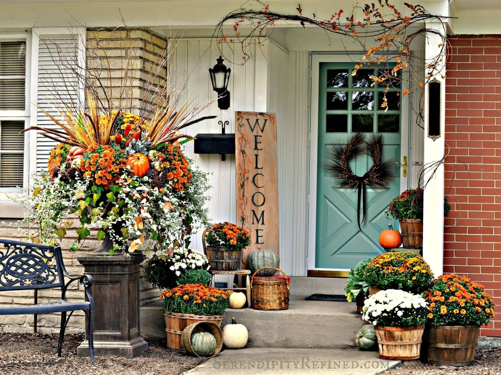 10 Lovely Front Porch Decorating Ideas For Fall falling for fall porch party highlights porch front porches and 2020
