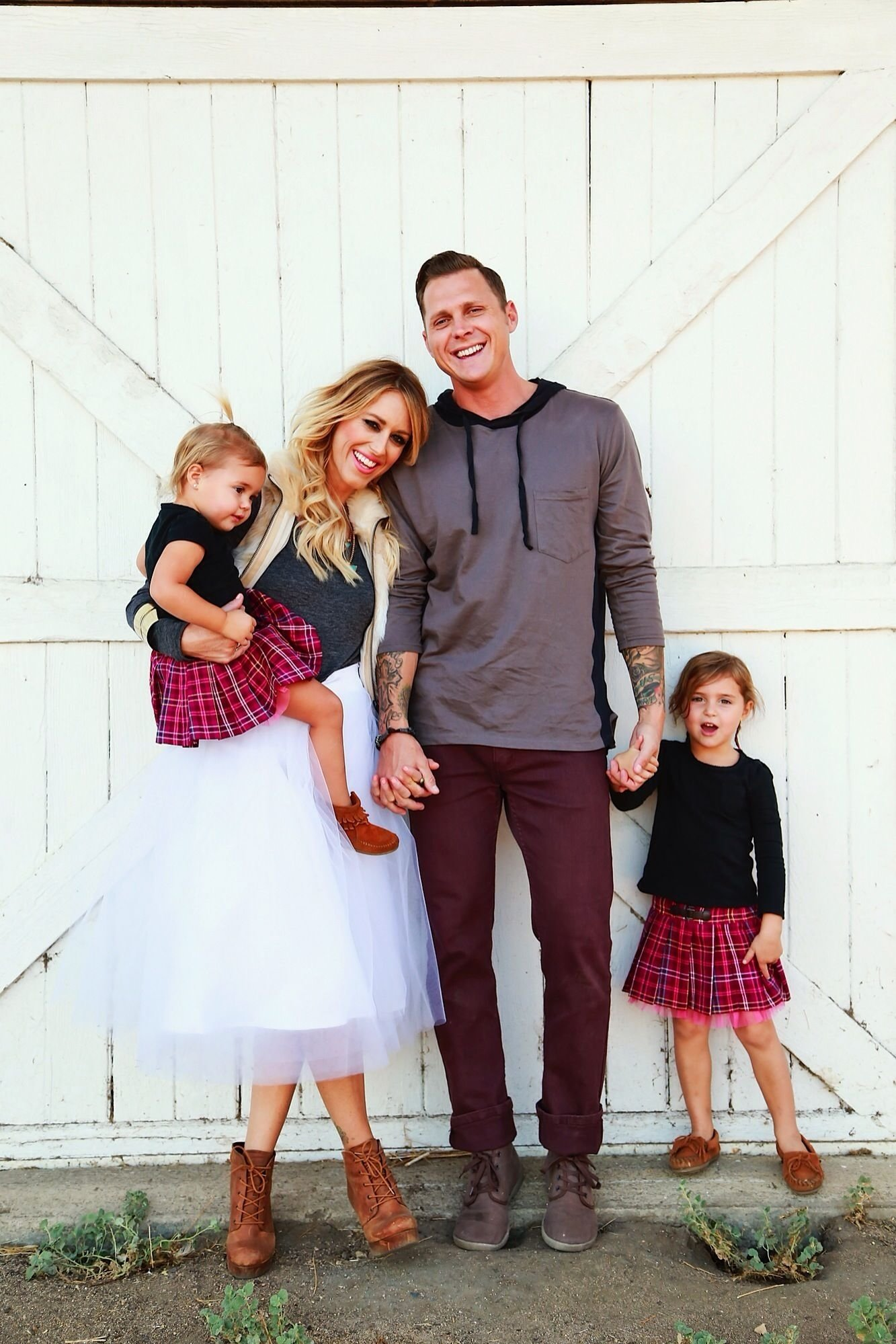 10 Most Popular Cute Family Christmas Card Ideas family christmas pictures with this tulle skirt from shabbyapple 2020