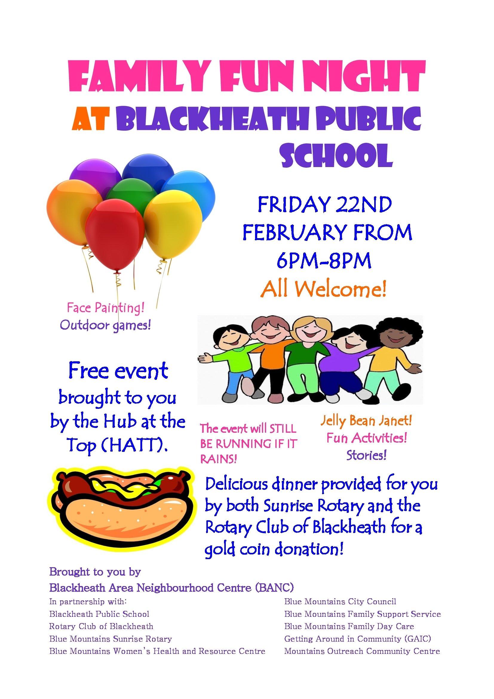family fun night at blackheath public school | blackheath area
