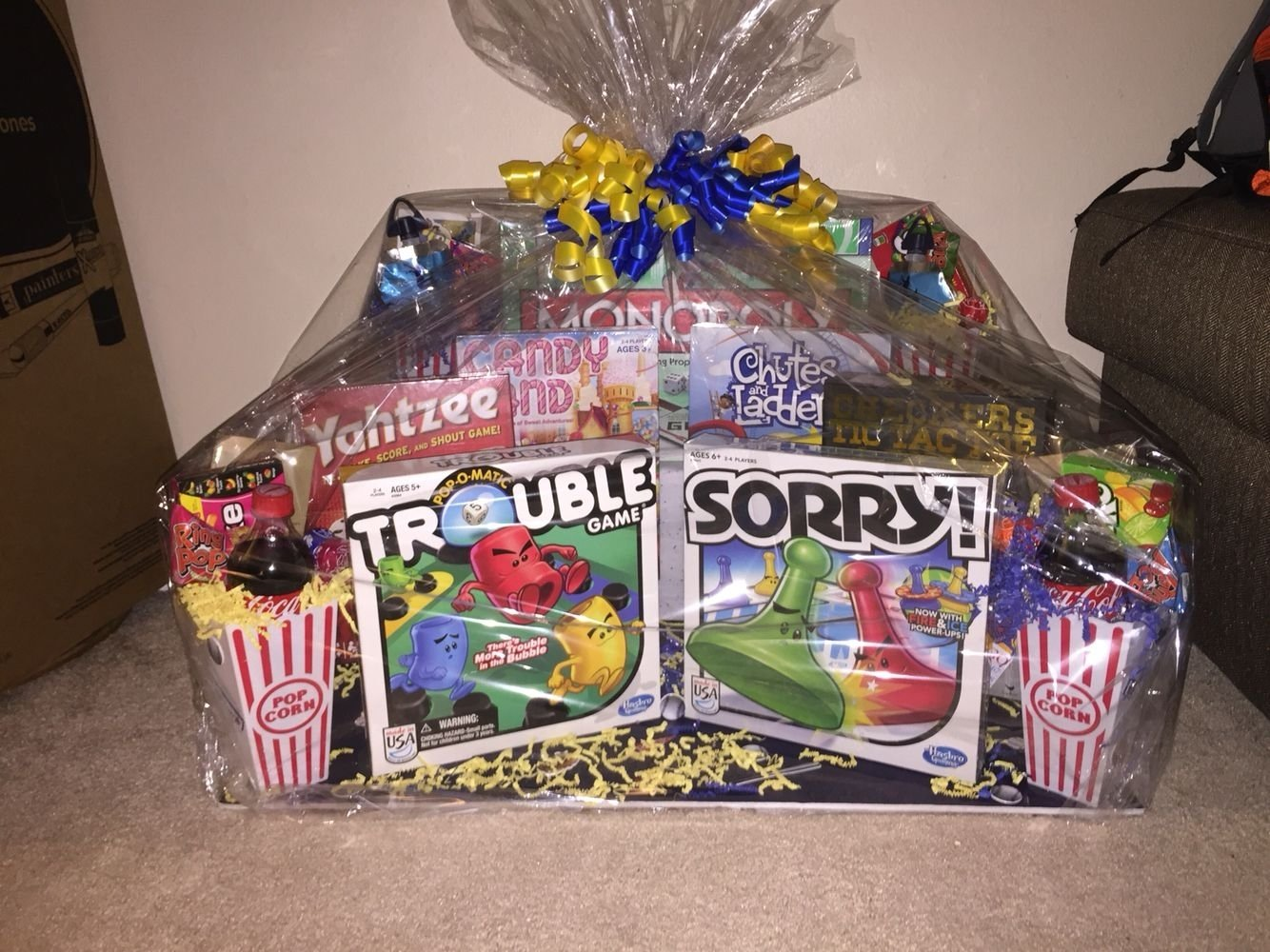 10 Lovable Family Christmas Gift Basket Ideas family game night gift basket gifts pinterest family game 2020
