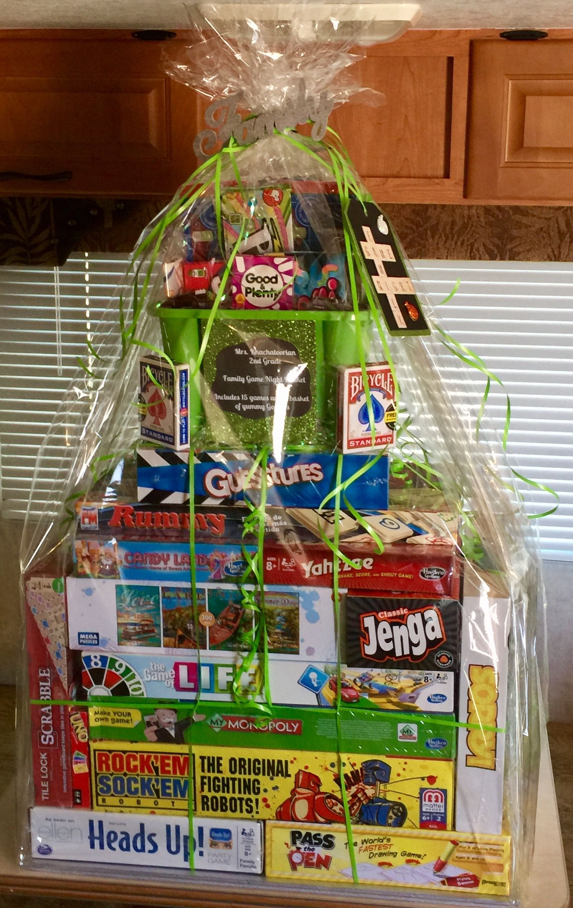 family game night raffle basket | room mom and pta | pinterest