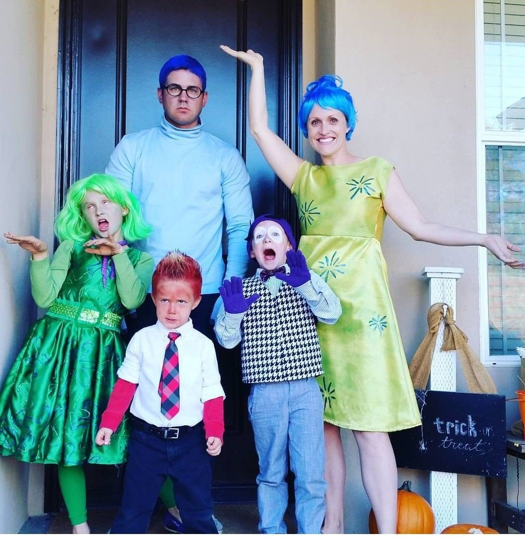 10 Amazing Family Halloween Costume Ideas With Baby family homemade halloween costume idea inside out costumes ideas 2021