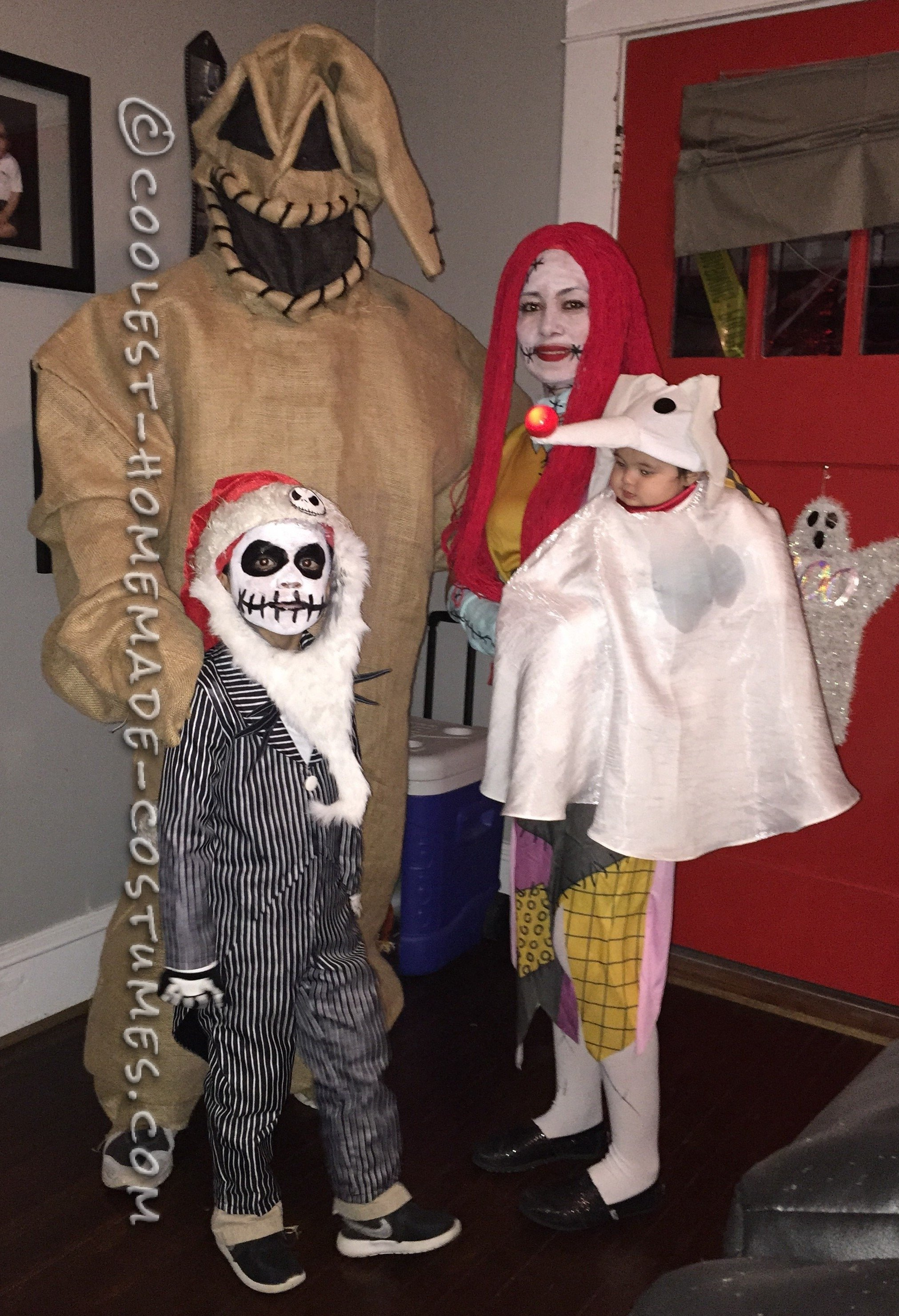 family nightmare before christmas theme baby zero costume | homemade