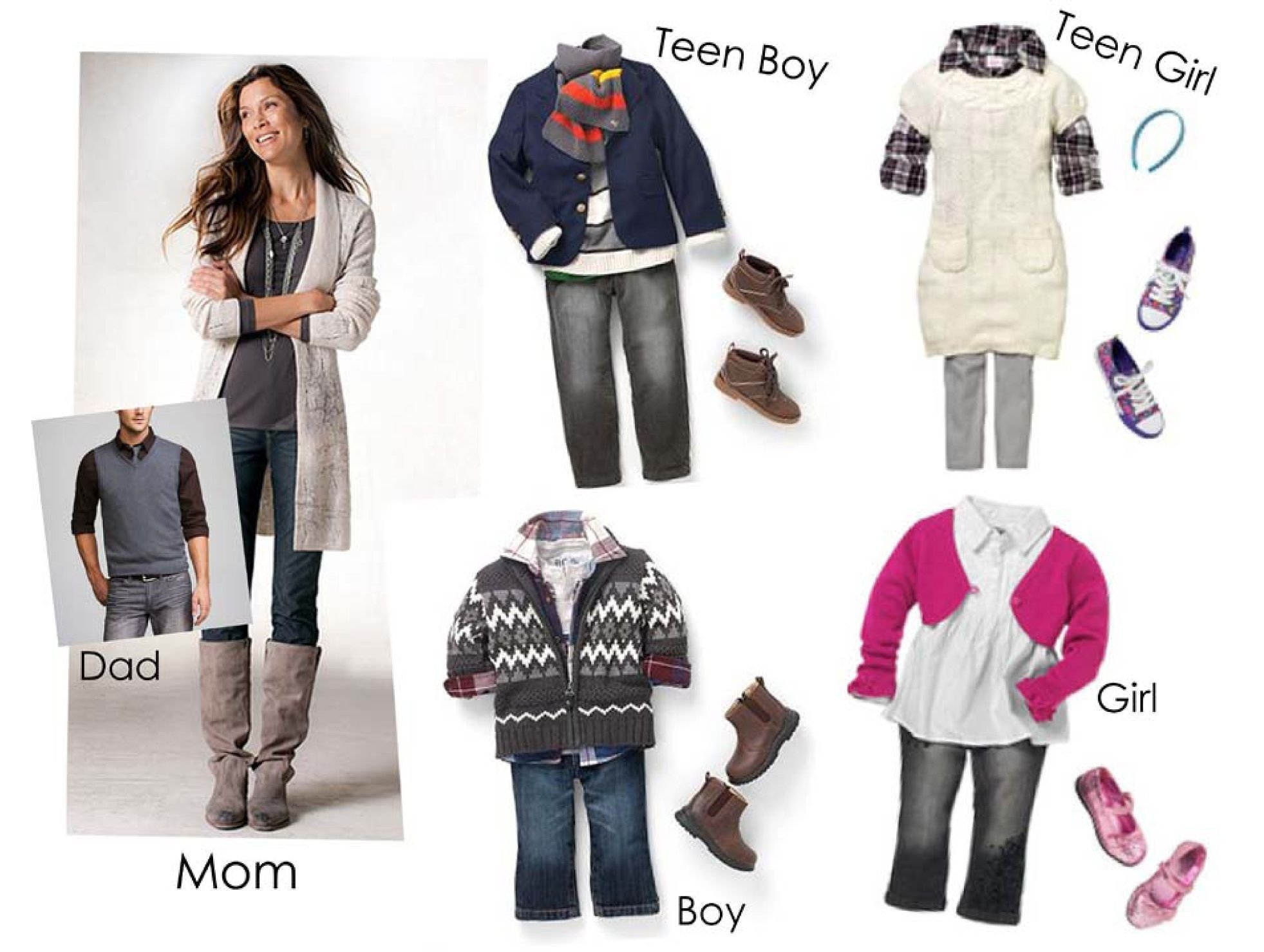 family-outfits-2 | google images, winter family photos and family