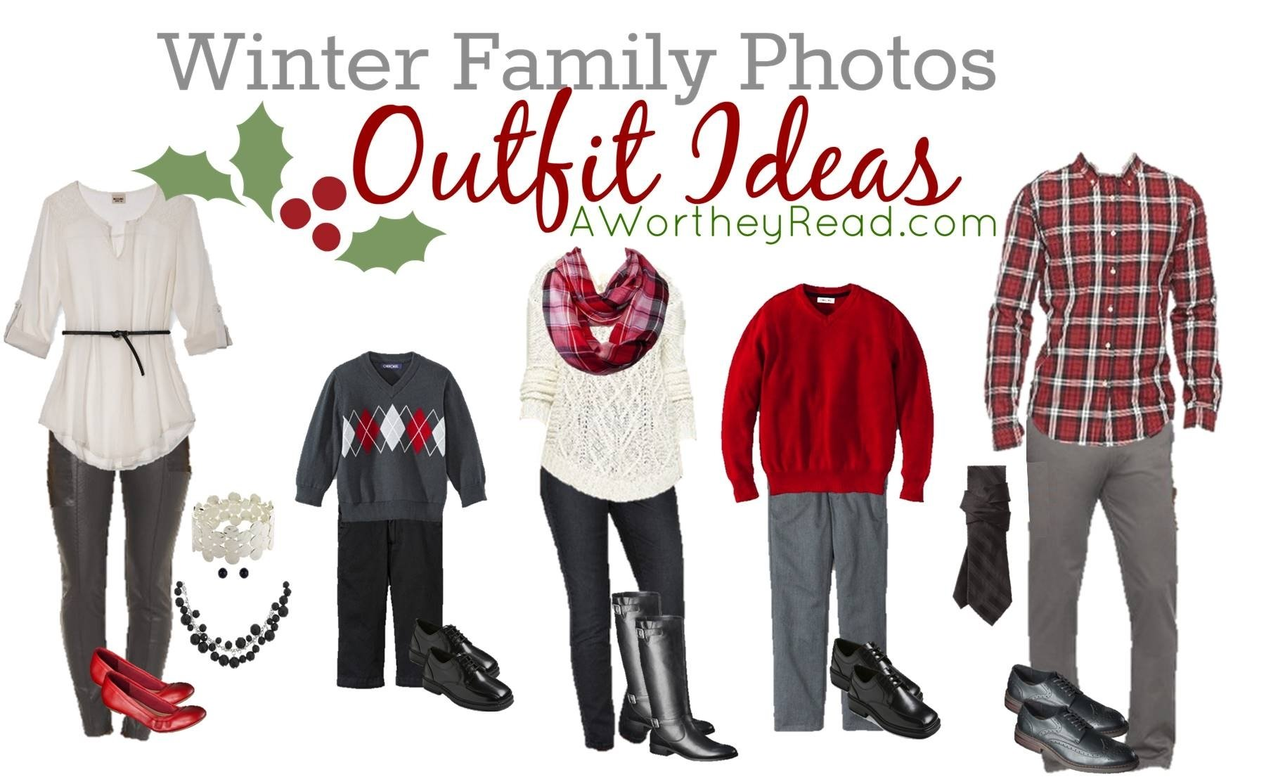 10 Famous Christmas Family Picture Outfit Ideas family photo outfit ideas red white black