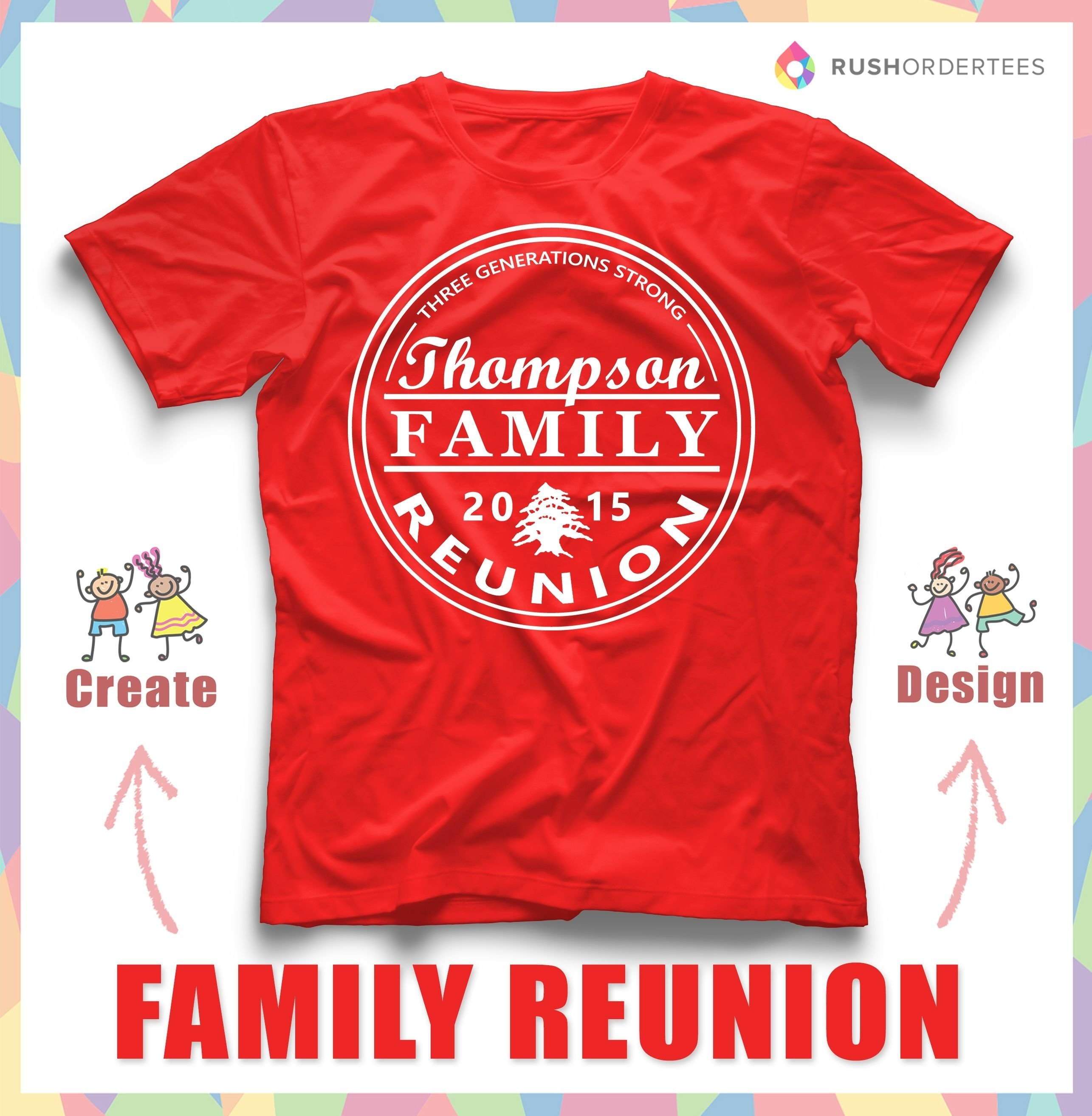10 Attractive Family Reunion T-Shirt Design Ideas