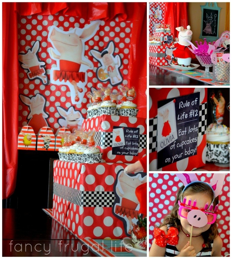 fancy frugal party tips & olivia the pig party | fancy frugal life