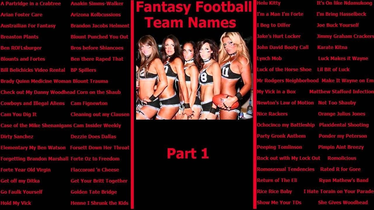 10 Unique Fantasy Football League Name Ideas fantasy football team names youtube 1 2020
