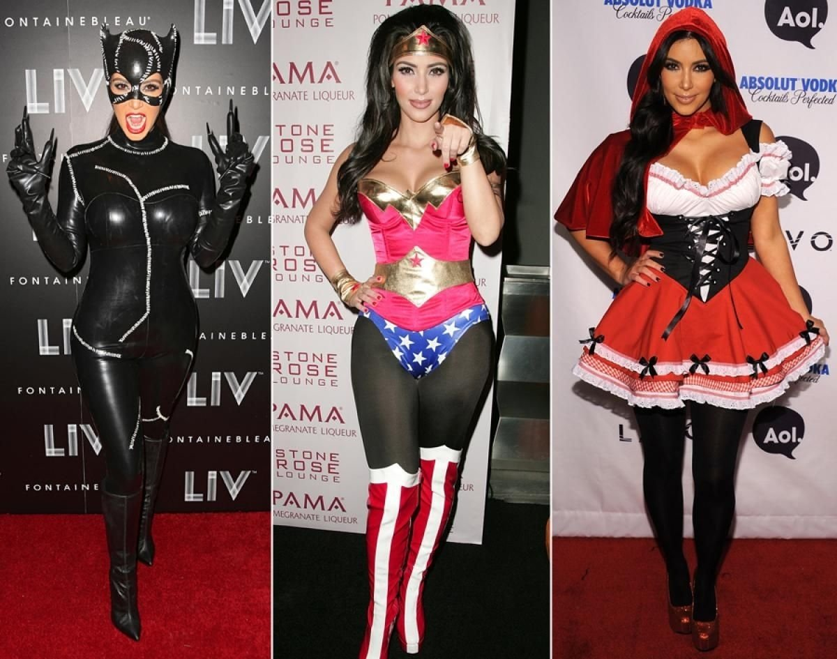 10 Unique Kim Kardashian Halloween Costume Ideas far she has appeared at halloween parties in skintight catwoman 2020