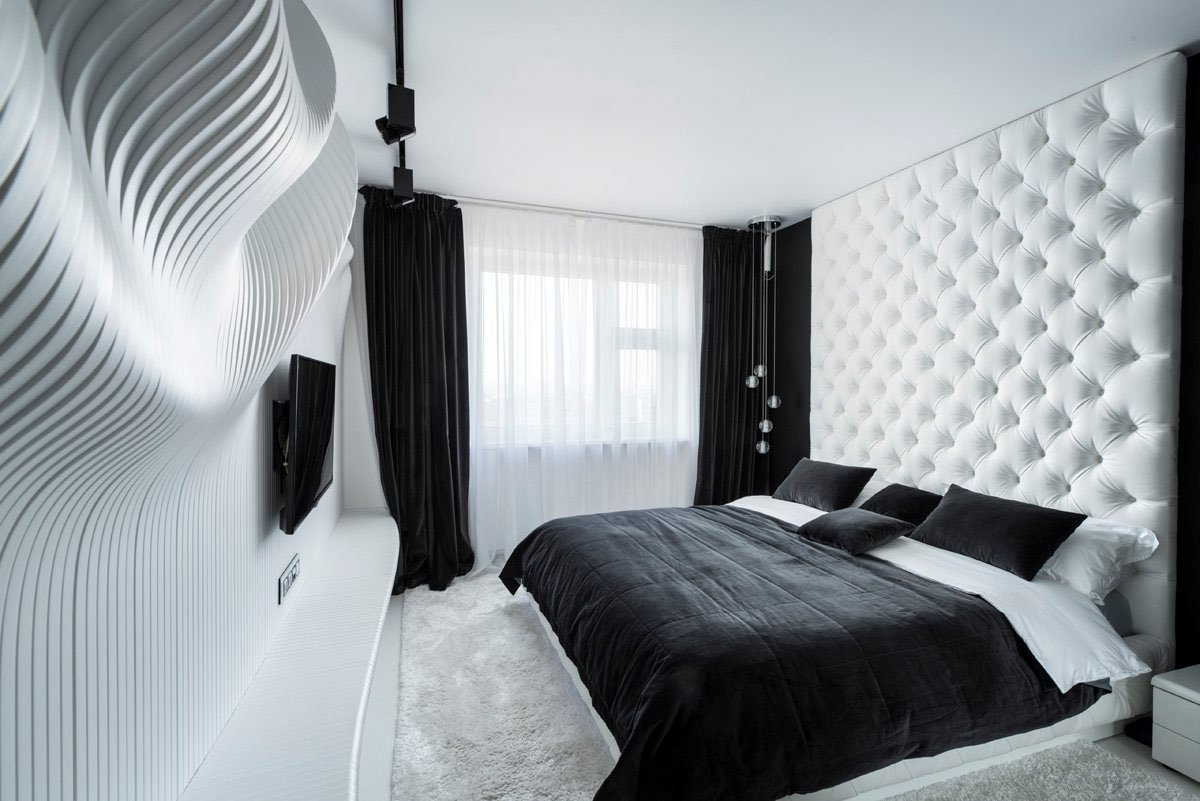 10 Wonderful Black And White Photo Ideas fascinating bedroom design ideas using white and black color theme 1 2021