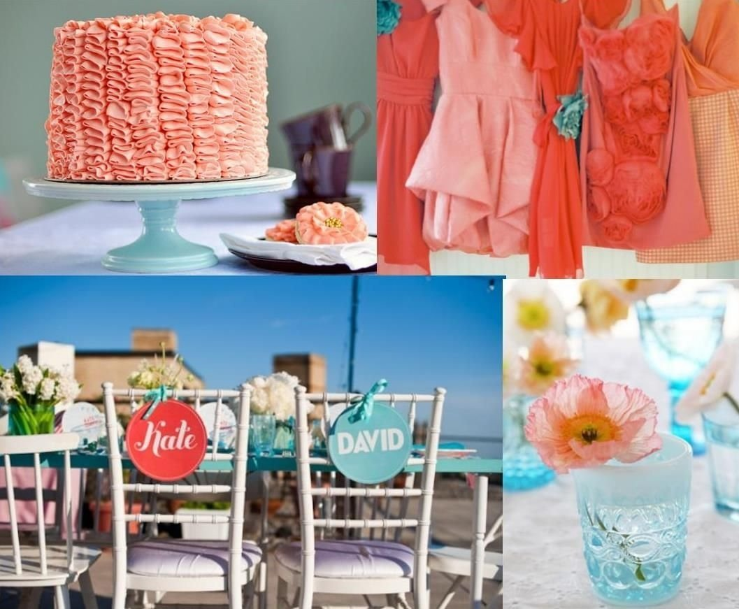 10 Trendy Coral And Teal Wedding Ideas