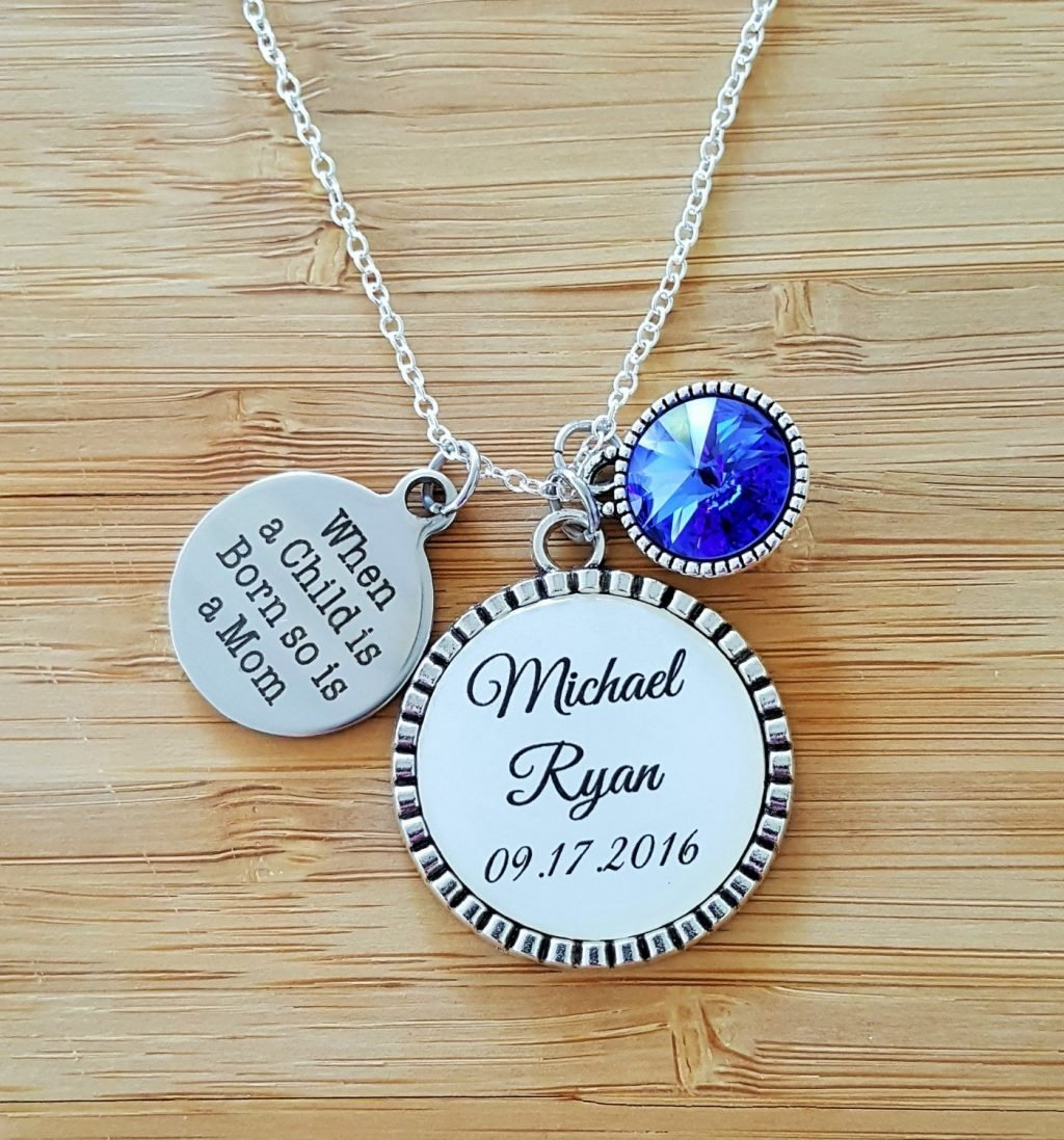 10 Wonderful Push Gift Ideas For Mom fashionable ideas push present necklace new mom gift mommy gifts 2021