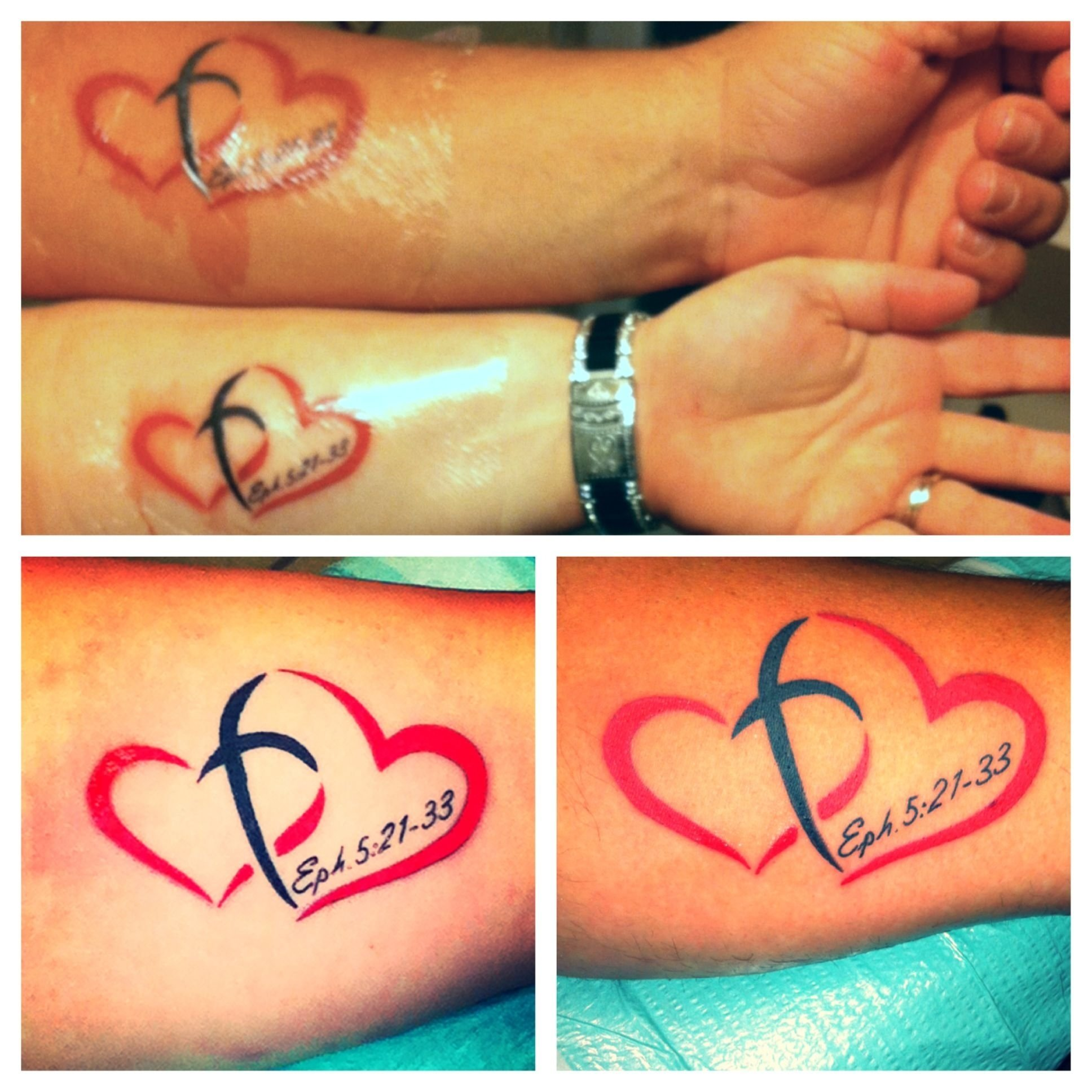 father and son tattoo ideas | christ centered marriage, matching