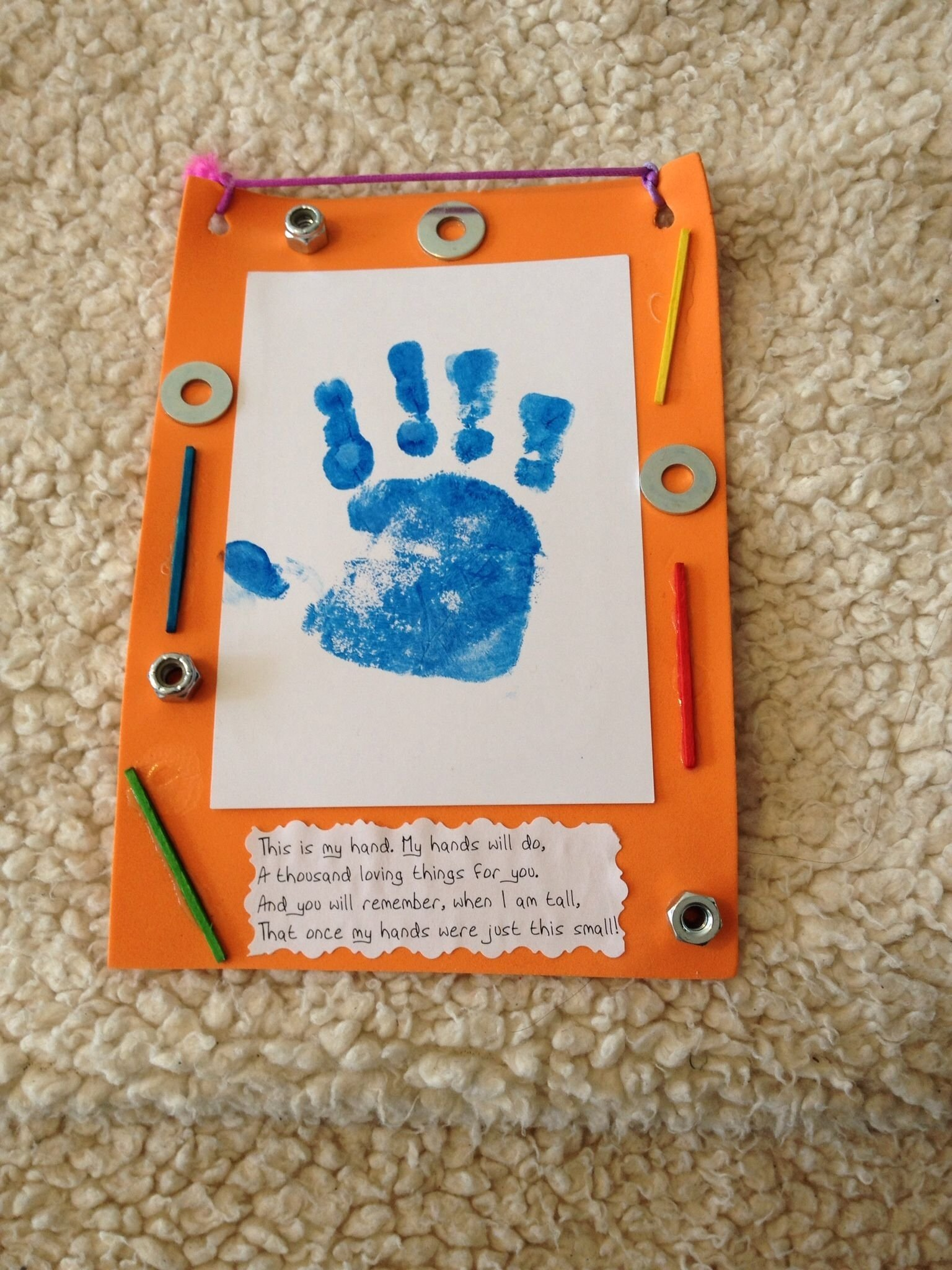 10 Elegant Fathers Day Ideas For Toddlers fathers day toddler craft made with a foam frame painted handprint