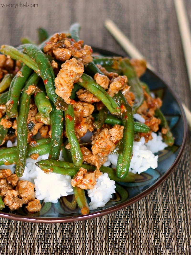 10 Pretty Dinner Ideas For Ground Turkey favorite chinese green beans with ground turkey the weary chef 1