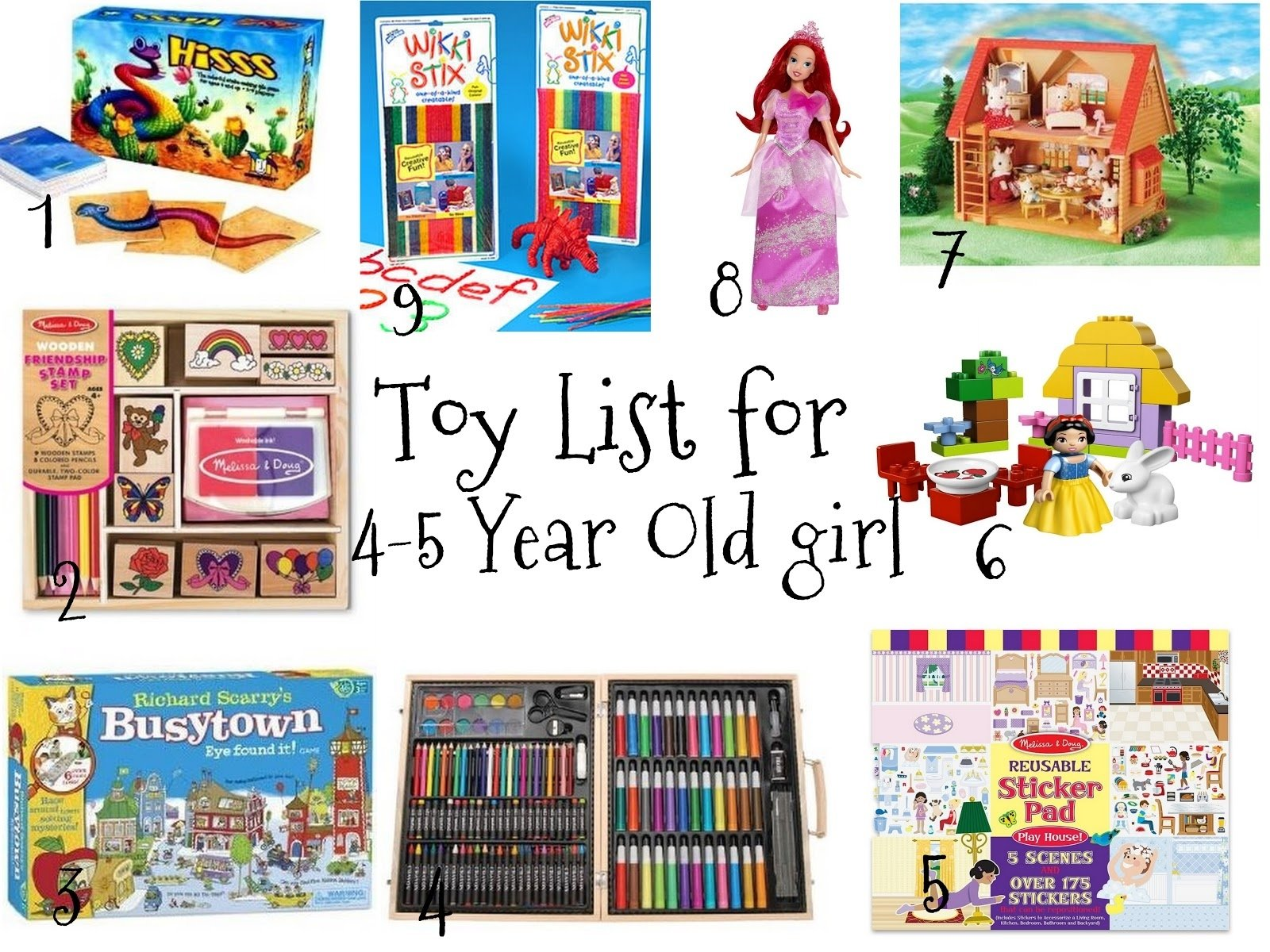 favorites and things: christmas toy list for 4-5 year old girls