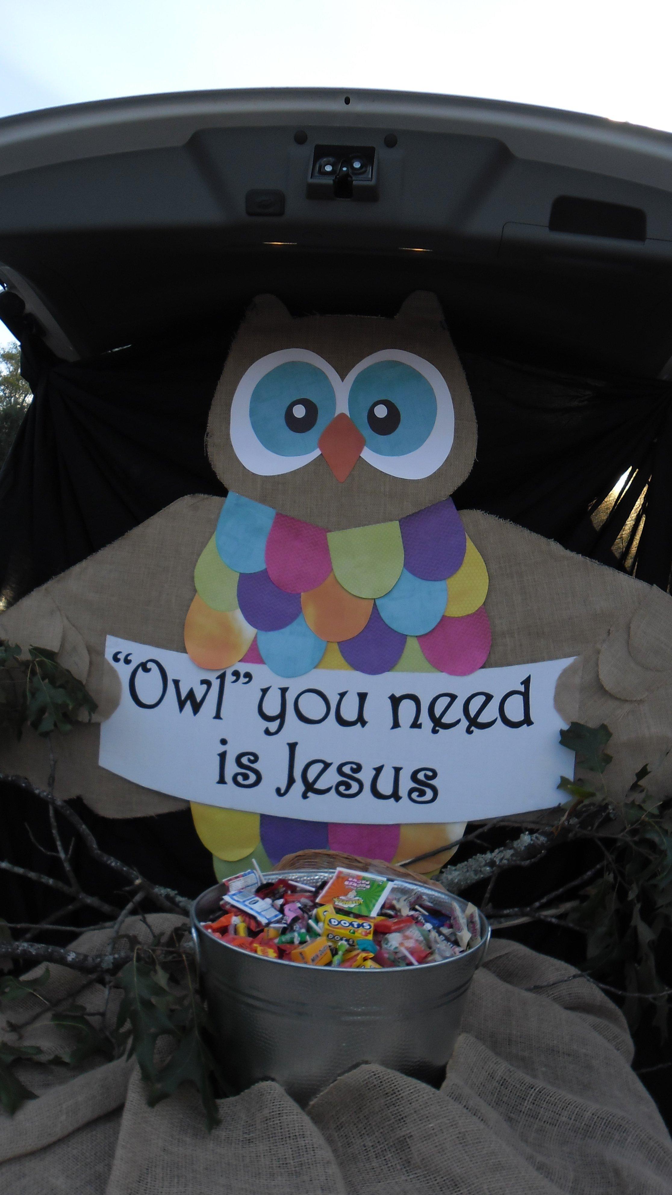 "fbc tallulah, la, fall carnival, trunk or treat, ""owl"" you need is"