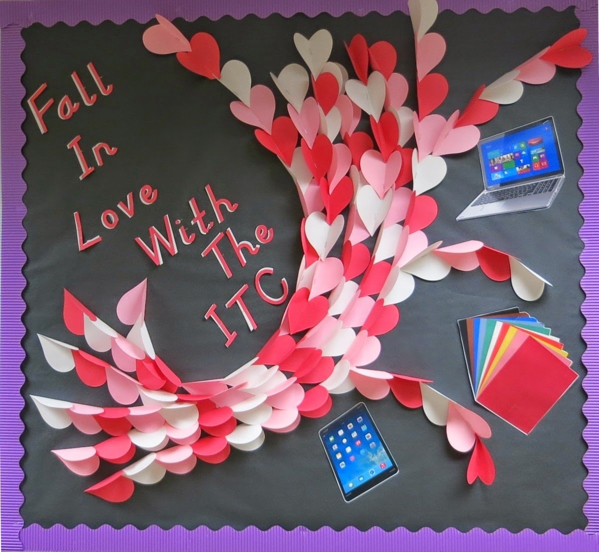 10 Pretty Valentine Bulletin Board Ideas Teachers february bulletin board project 1 itc chronicles 2