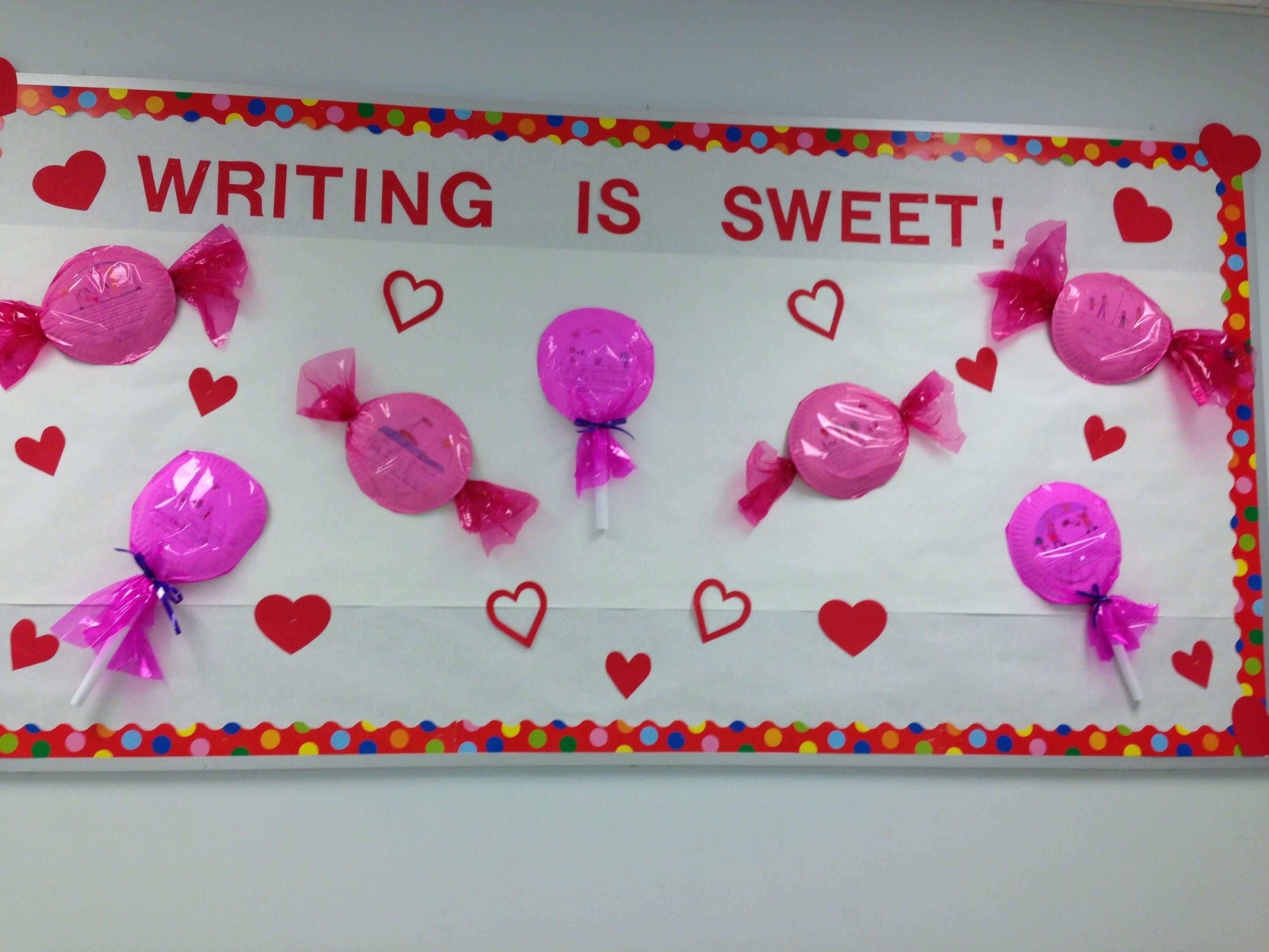 10 Beautiful February Bulletin Board Ideas For Teachers february bulletin board writing is sweet pinterest february 2020
