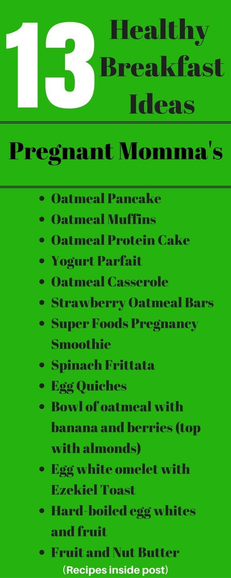 10 Nice Lunch Ideas For Pregnant Women fertility friendly breakfast ideas fertility pinterest fertility 2020