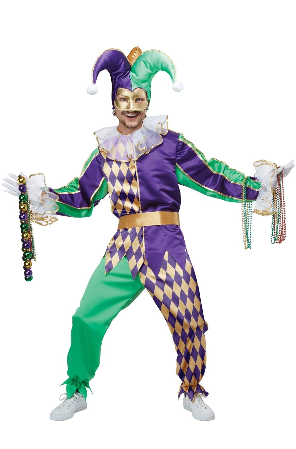 10 Awesome Mardi Gras Dress Up Ideas festive mardi gras jester adult costume purecostumes 2020