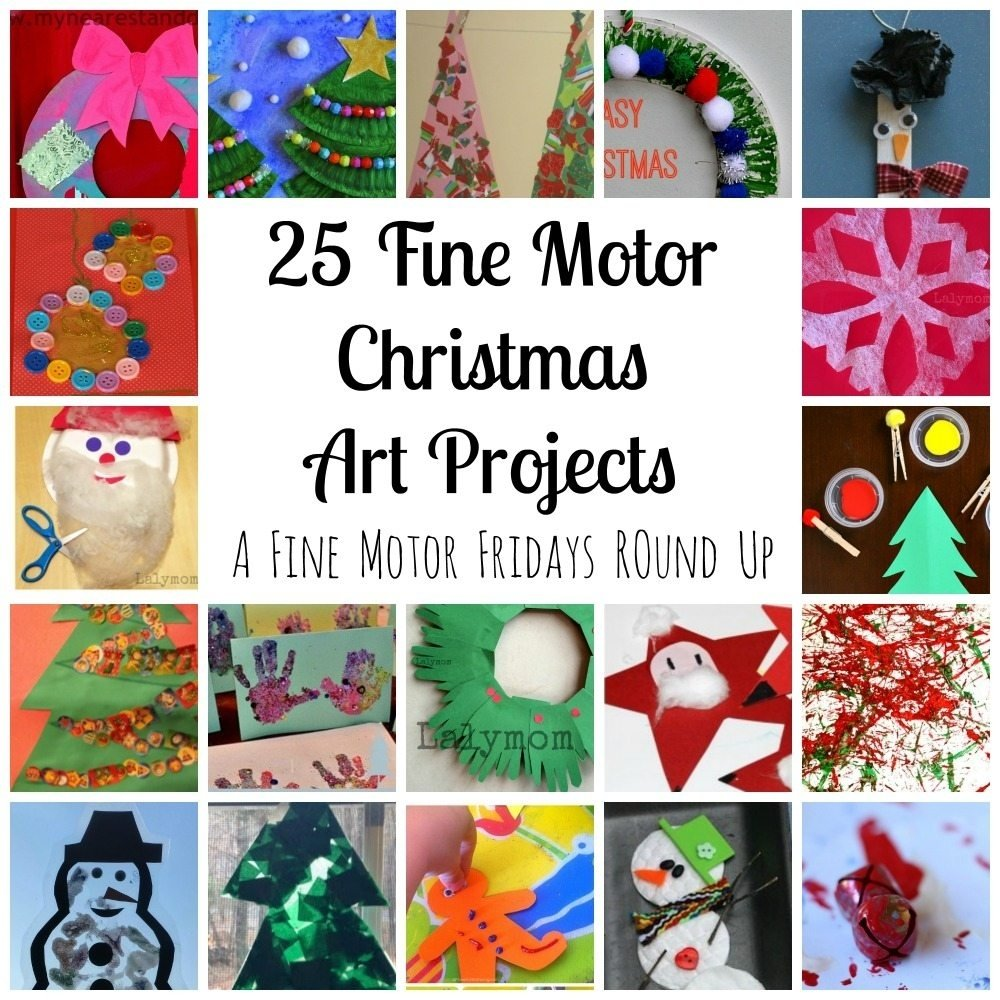 10 Ideal Christmas Activity Ideas For Kids fine motor christmas art projects fine motor fridays lalymom 2 2020