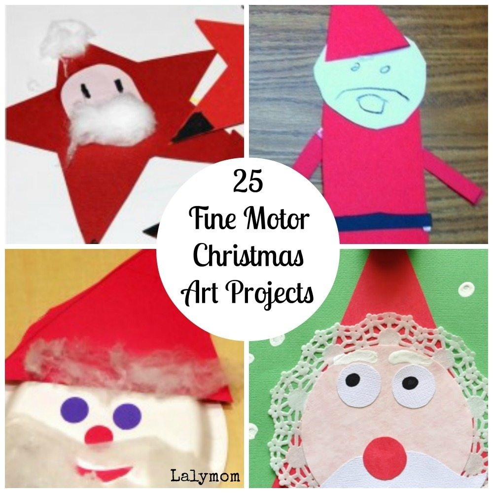 fine motor christmas art projects [fine motor fridays] - lalymom