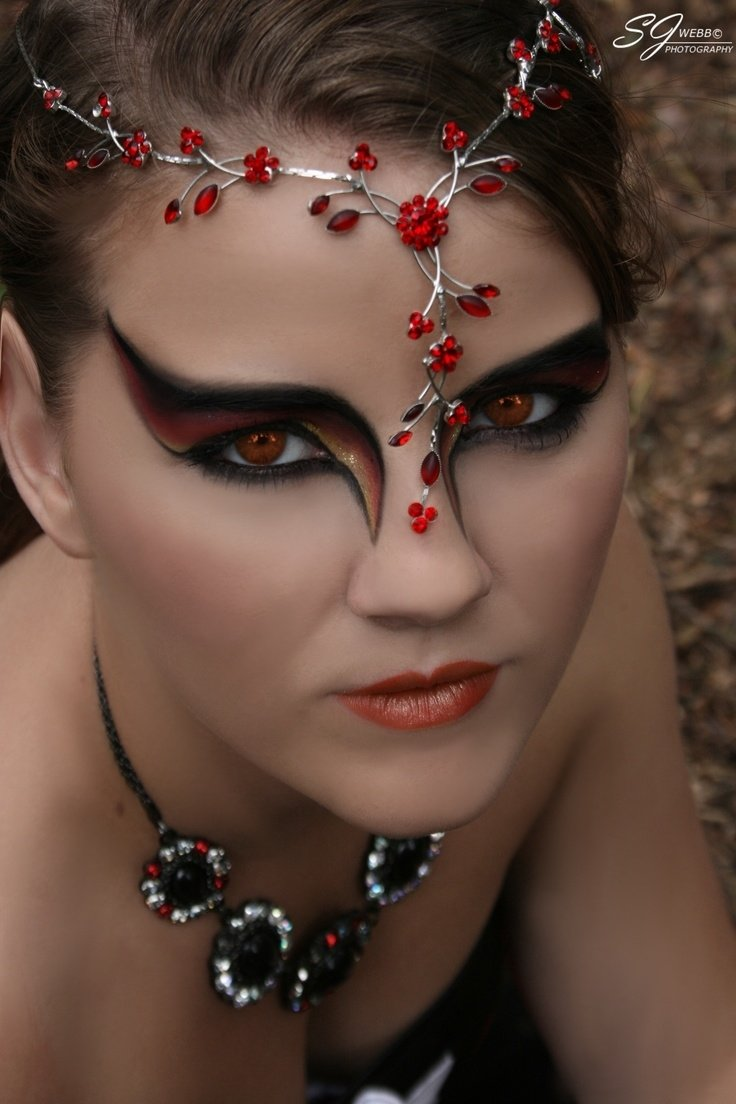 10 Great Devil Makeup Ideas For Women fire fairy mode imogen lewis make up jayne webb photographer