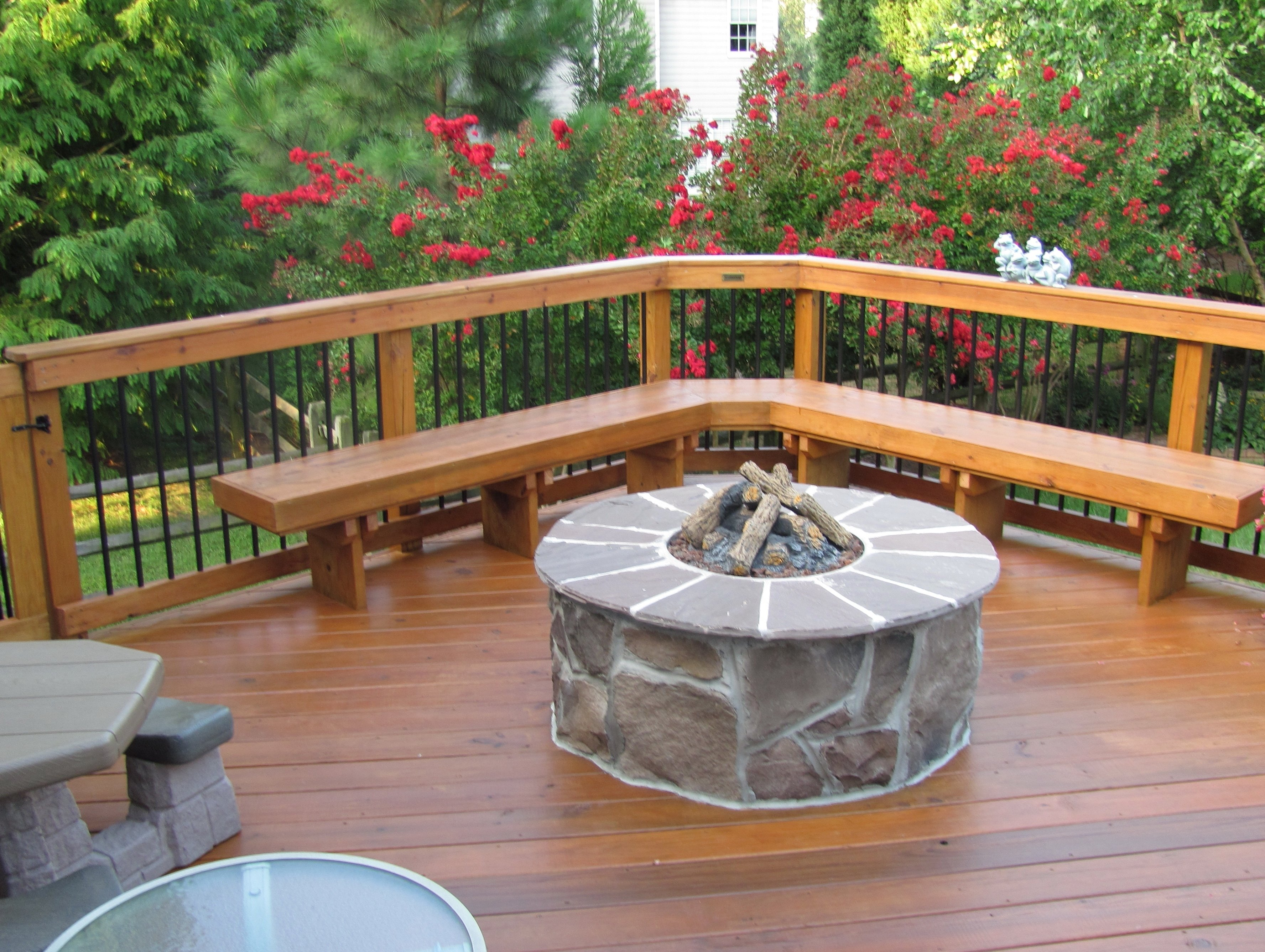 10 Stylish Deck Ideas With Fire Pit fire pits design fabulous deck designs with hot tub and fire pit in 2021
