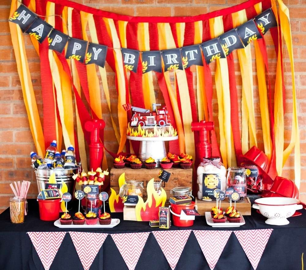 10 Awesome Fire Truck Birthday Party Ideas fire truck firefighter birthday party ideas firefighter birthday 2020