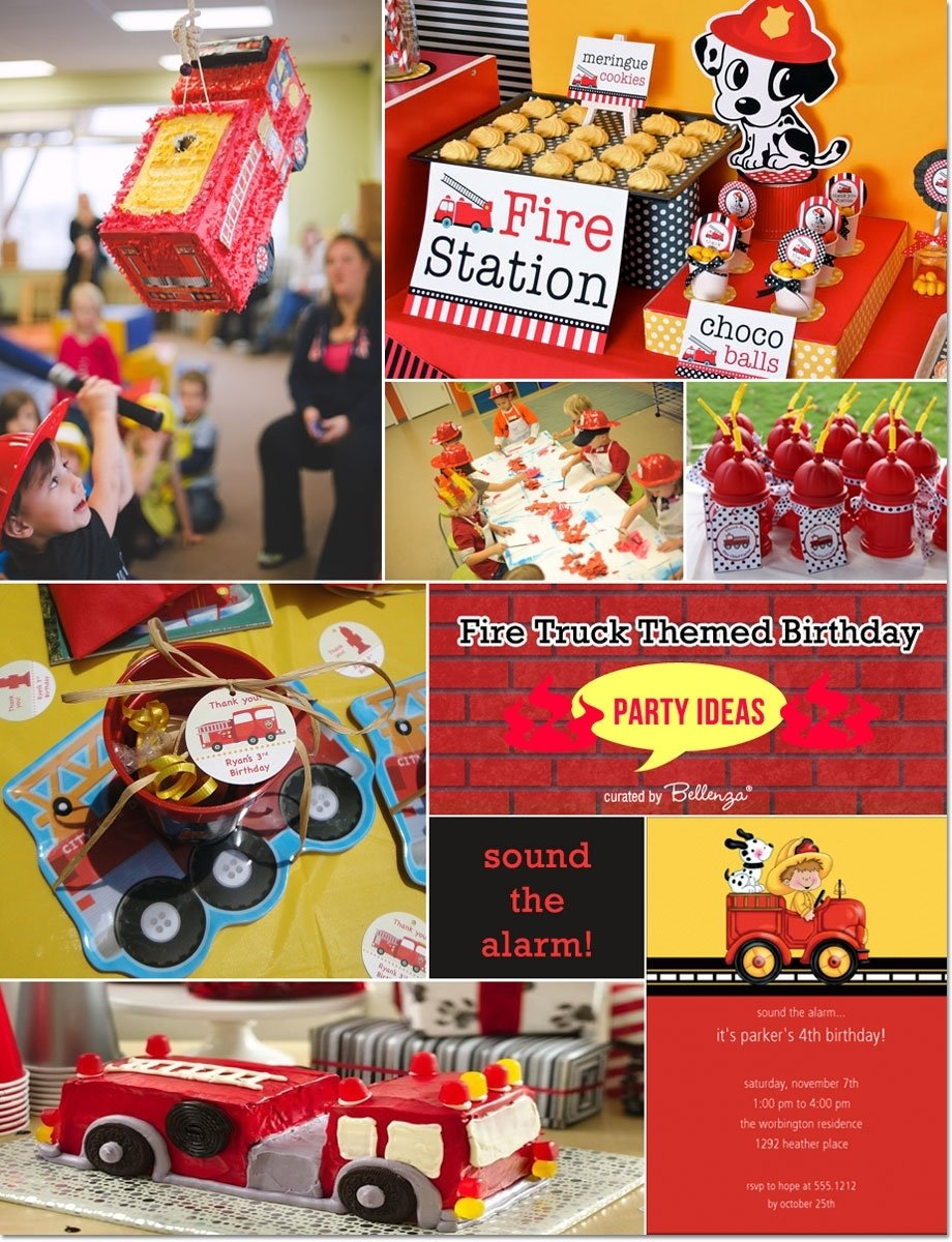 10 Awesome Fire Truck Birthday Party Ideas fire truck themed birthday ideas 2020