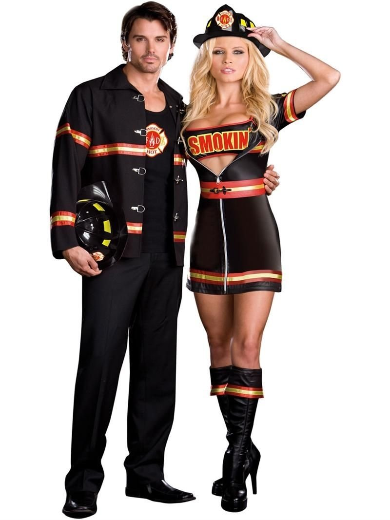 10 Stylish Halloween Costume Ideas For Couples firefighter girl fire halloween pinterest couple halloween
